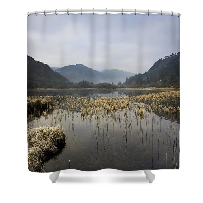County Wicklow Shower Curtain featuring the photograph Lower Lake, Glendalough, County by Peter McCabe