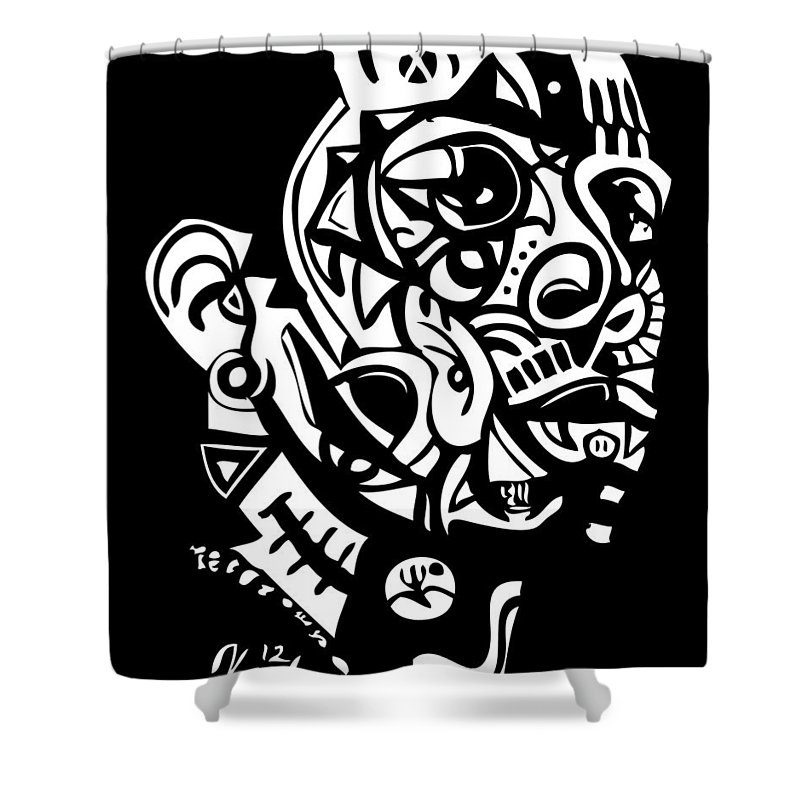 Southernrapper Shower Curtain featuring the digital art Ludacris by Kamoni Khem