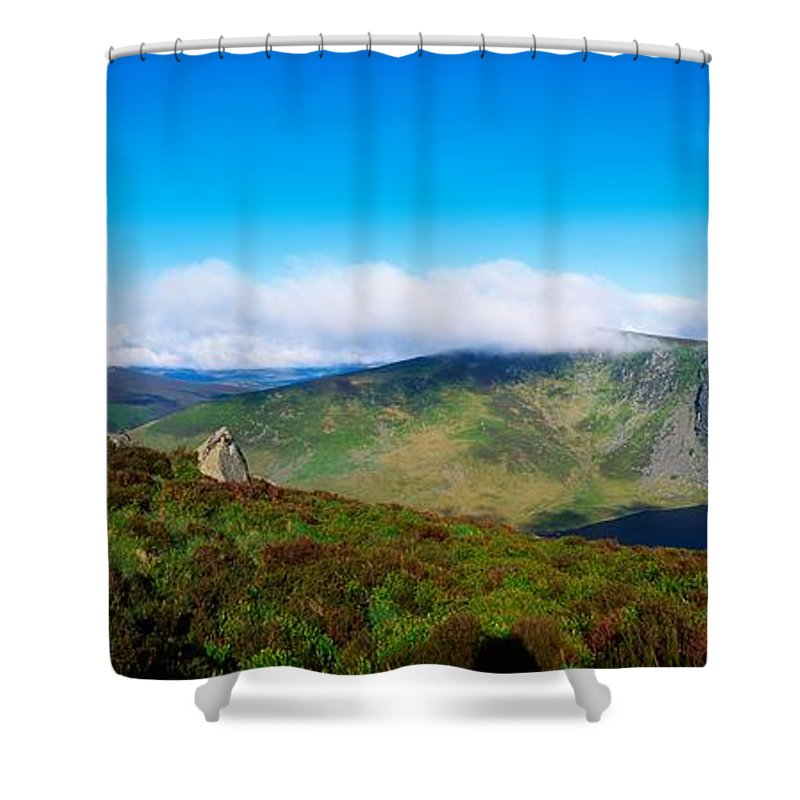 Barren Shower Curtain featuring the photograph Luggala And Lough Tay, Co Wicklow by The Irish Image Collection