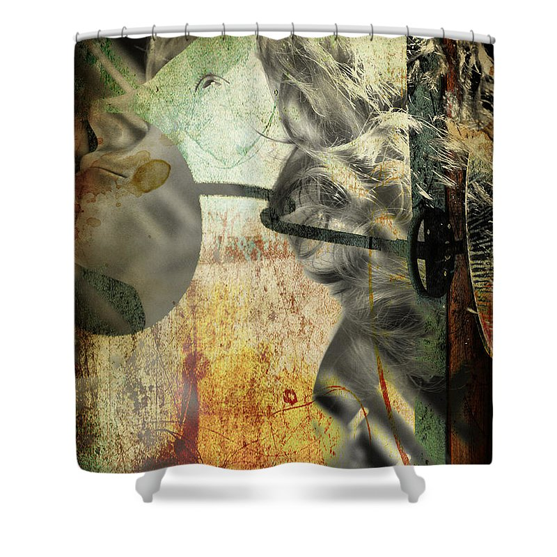 Women Shower Curtain featuring the photograph Lying Right by The Artist Project