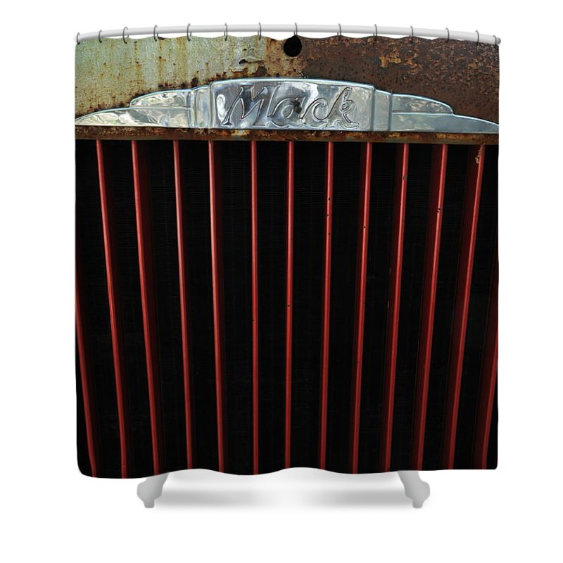 Mack Shower Curtain featuring the photograph Mack by Ron Weathers