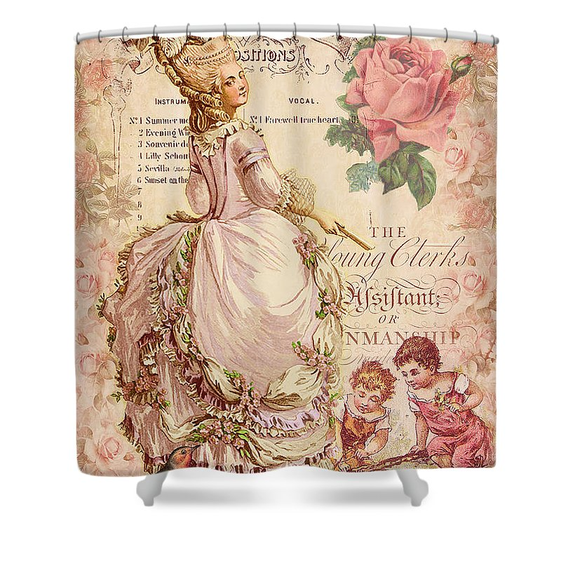 Fashion Plate Shower Curtains