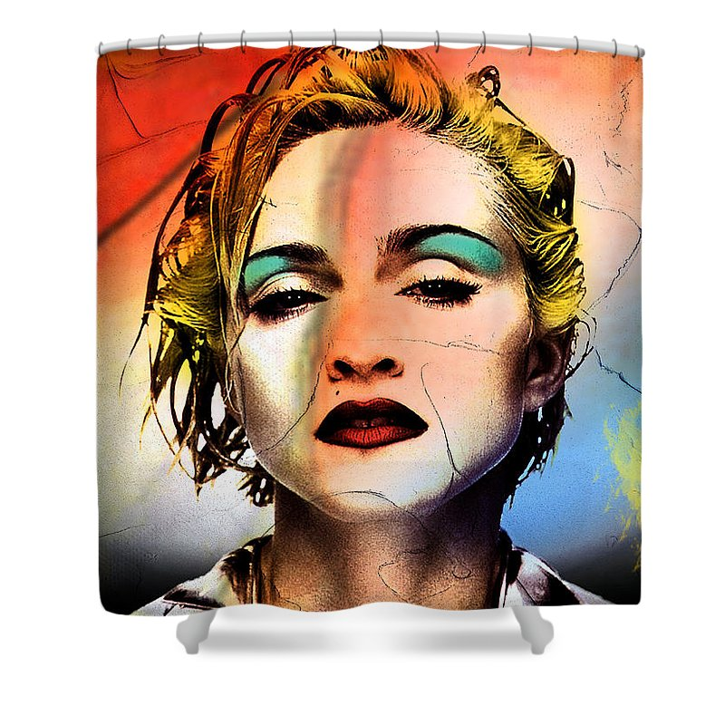 Madonna Shower Curtain featuring the painting Madonna by Mark Ashkenazi