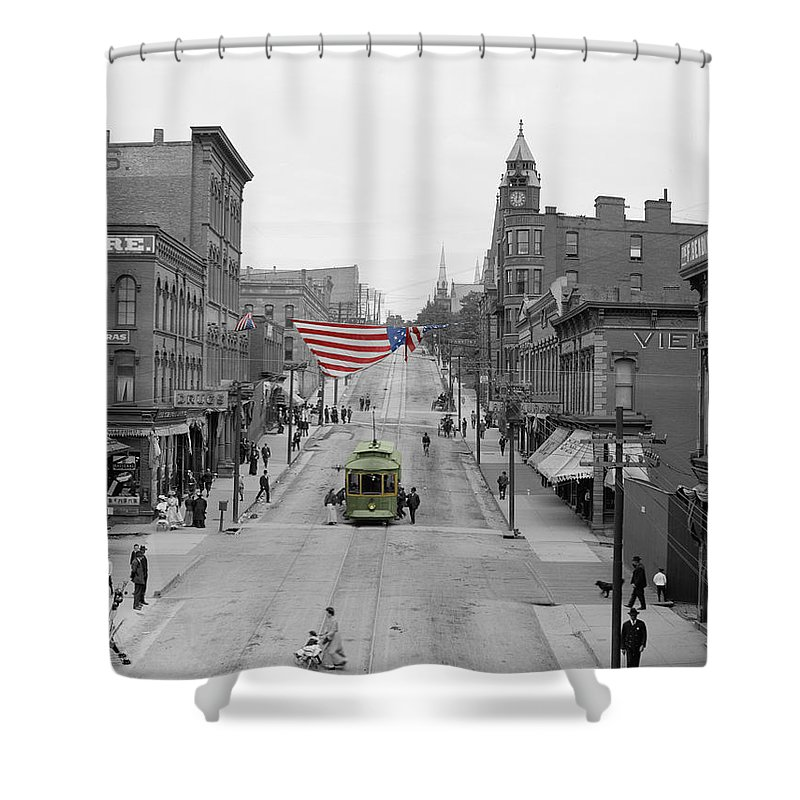 Main Street Shower Curtain featuring the photograph Main Street America by Andrew Fare