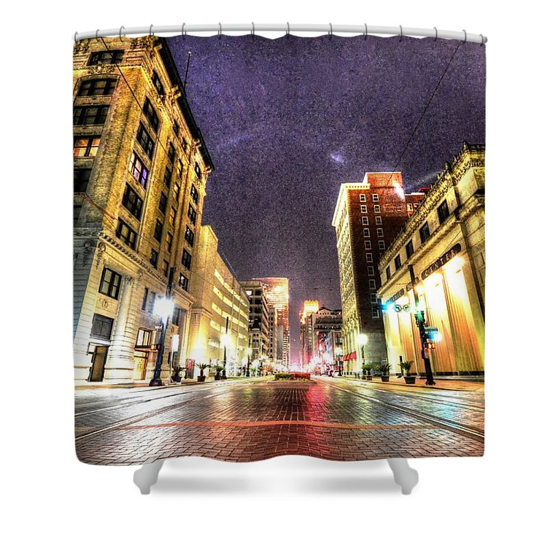 Main St. Shower Curtain featuring the photograph Main Street by David Morefield