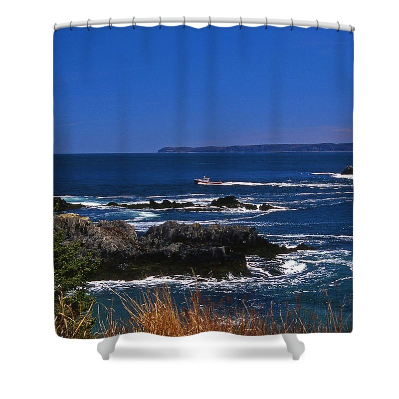 Me Shower Curtain featuring the photograph Maine At West Quoddy by Skip Willits