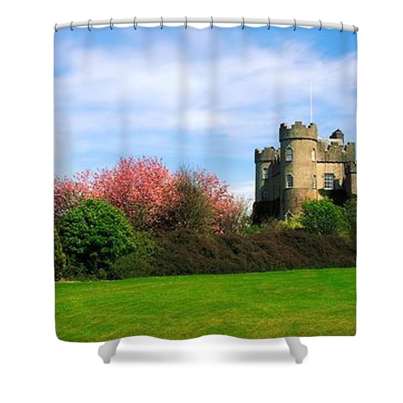 Building Shower Curtain featuring the photograph Malahide Castle, Co Dublin, Ireland by The Irish Image Collection