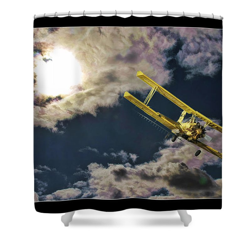 Fine Art Photographers Shower Curtain featuring the photograph Man In Flight by Blake Richards