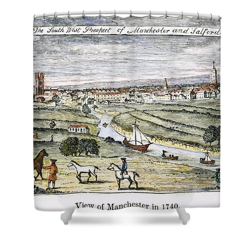 1740 Shower Curtain featuring the photograph Manchester, England, 1740 by Granger