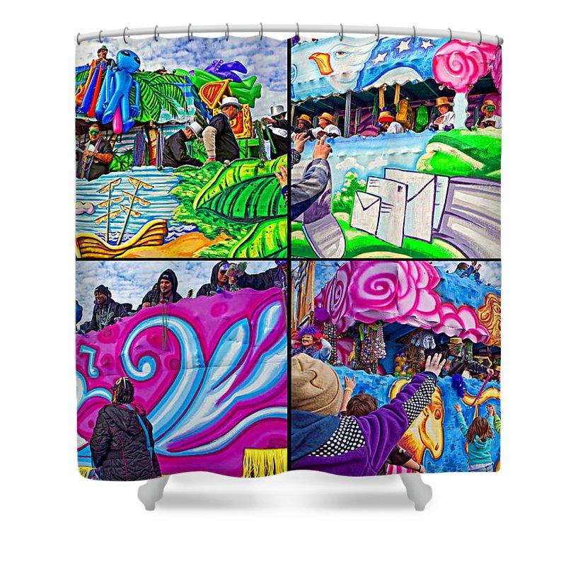 New Orleans Shower Curtain featuring the photograph Mardi Gras Fun by Steve Harrington