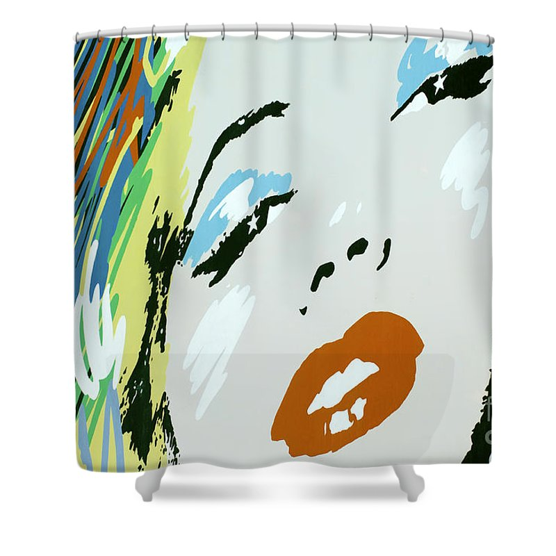 Ilynmarilyn Monroe Shower Curtain featuring the photograph Marilyn In Hollywood by Micah May