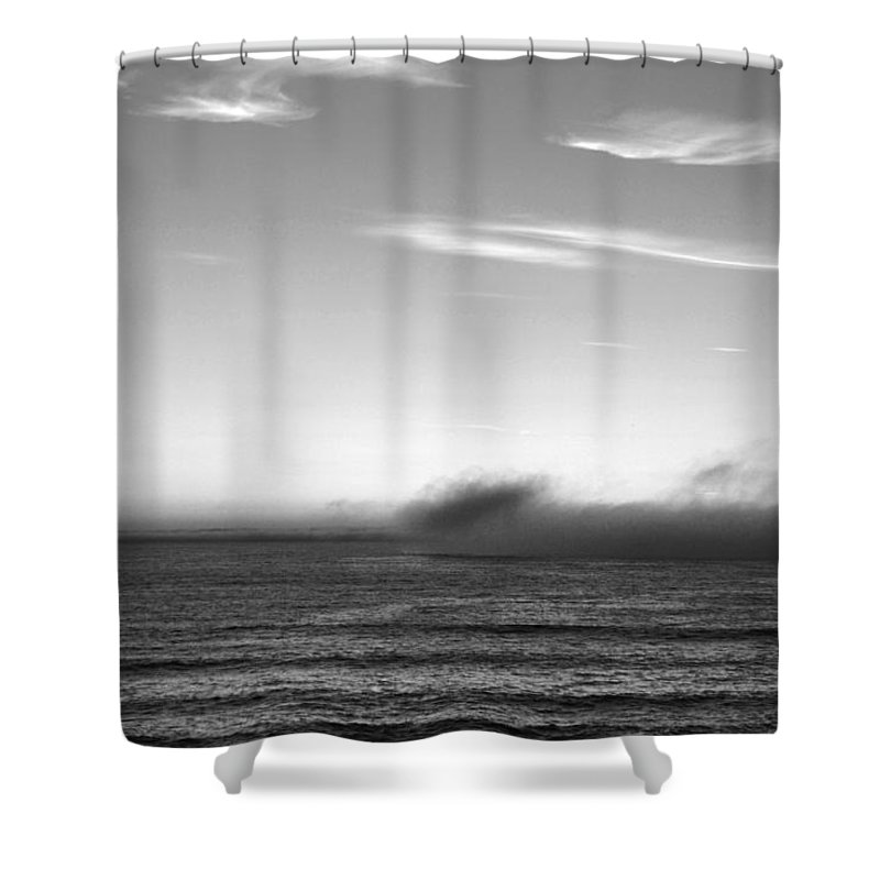 Marina Dunes Beach Shower Curtain featuring the photograph Marina - Last Minutes Light by Kathleen Grace