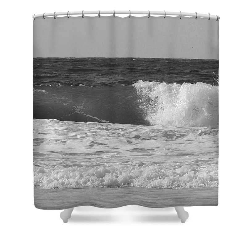 Marina Dunes Beach Shower Curtain featuring the photograph Marina Incoming by Kathleen Grace