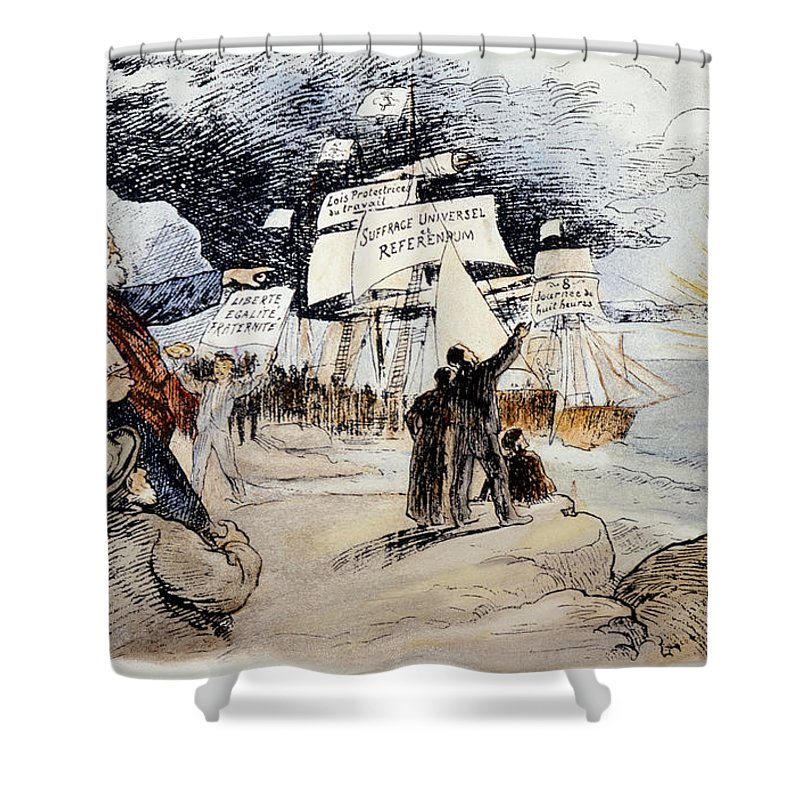 1891 Shower Curtain featuring the photograph Marxism, C1891 by Granger