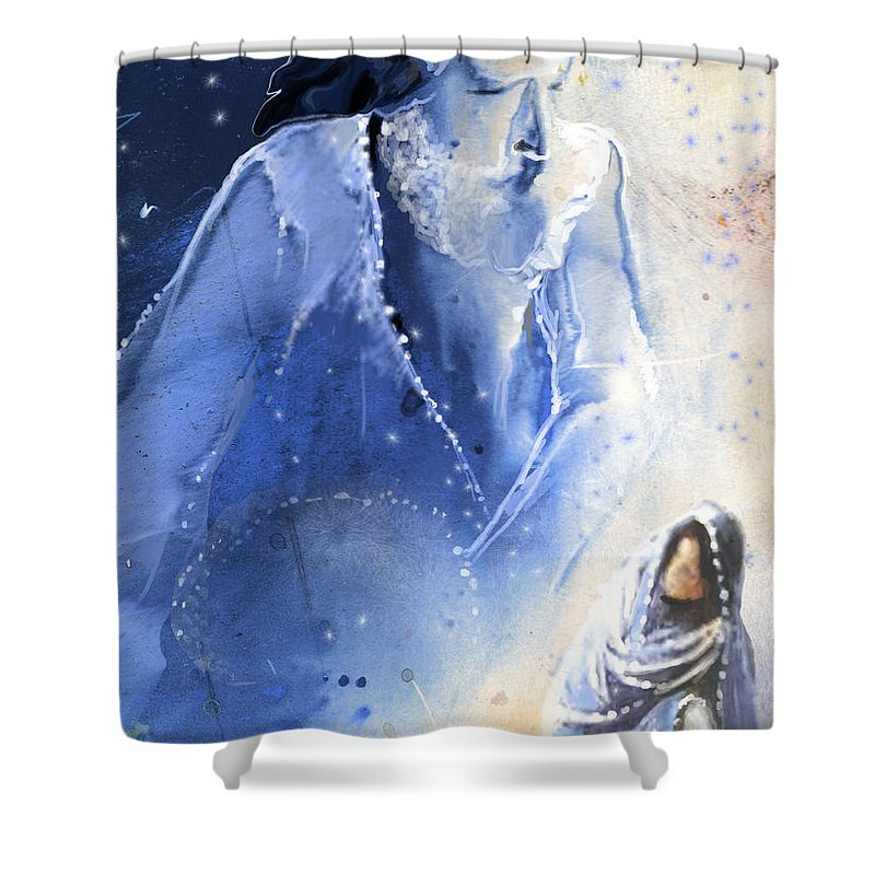 Fantasy Shower Curtain featuring the painting Mary Magdalene by Miki De Goodaboom