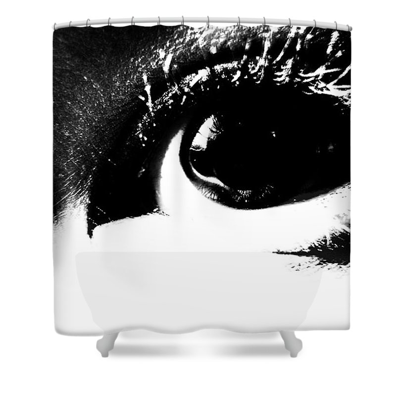 Elm Shower Curtain featuring the photograph Masked Era by The Artist Project