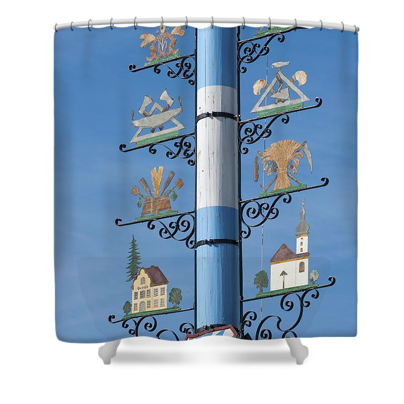 Bavaria Shower Curtain featuring the photograph Maypole by Andrew Michael