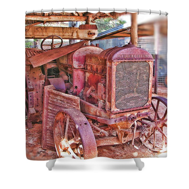 Mccormack Deering Tractor Shower Curtain featuring the photograph Mccormack Deering Tractor by Douglas Barnard