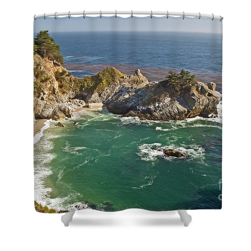 Rocky Shower Curtain featuring the photograph Mcway Falls by Jim Chamberlain