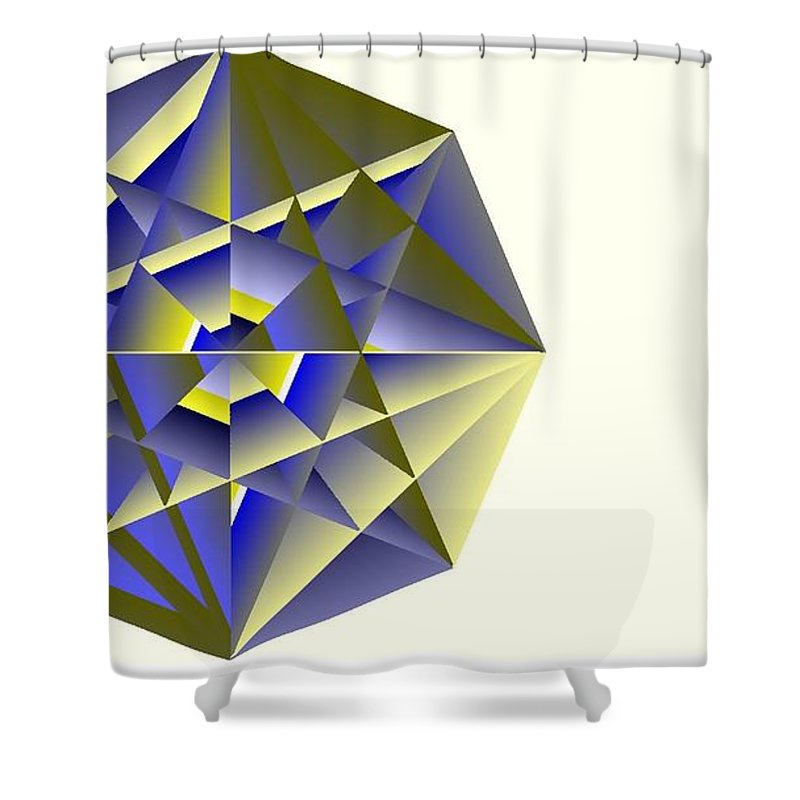 Digital Medallion Shower Curtain featuring the digital art Medallion by Michael Skinner