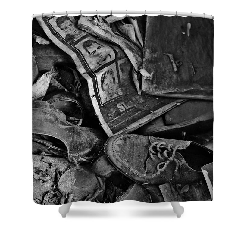 Street Photographer Framed Prints Shower Curtain featuring the photograph Memories Of Sin by The Artist Project