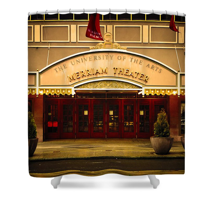 Merriam Theater Shower Curtain featuring the photograph Merriam Theater by Bill Cannon