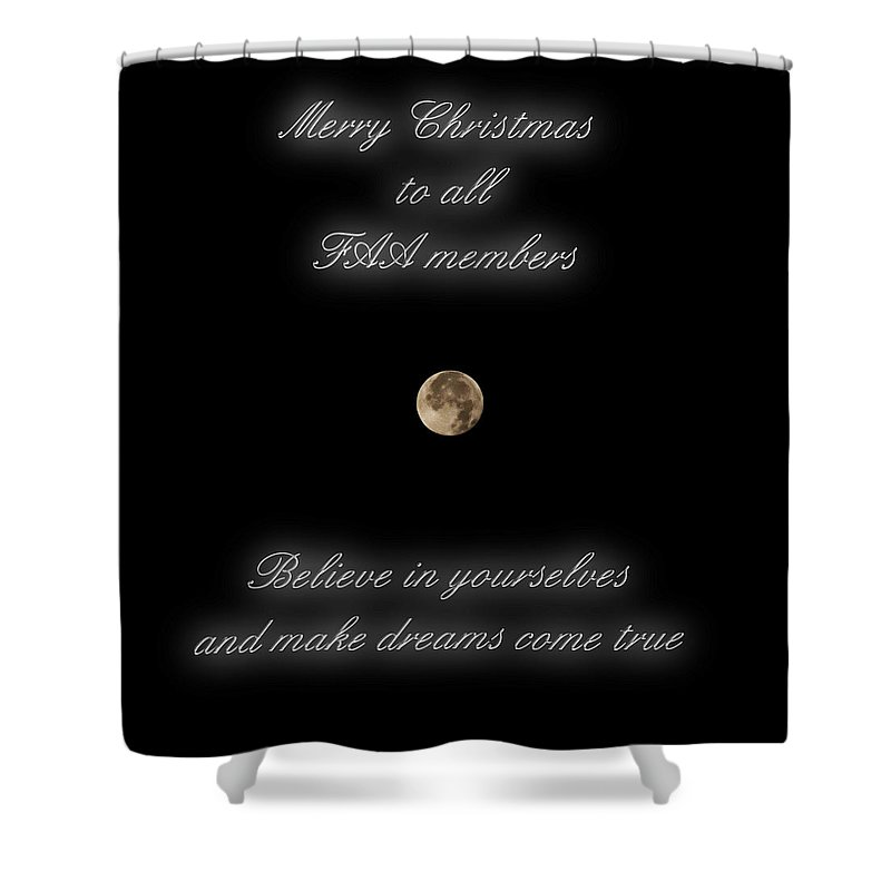 Merry Shower Curtain featuring the photograph Merry Christmas by Pedro Cardona Llambias