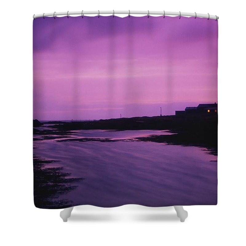 Beacon Shower Curtain featuring the photograph Mew Island, Belfast Lough, County Down by Richard Cummins