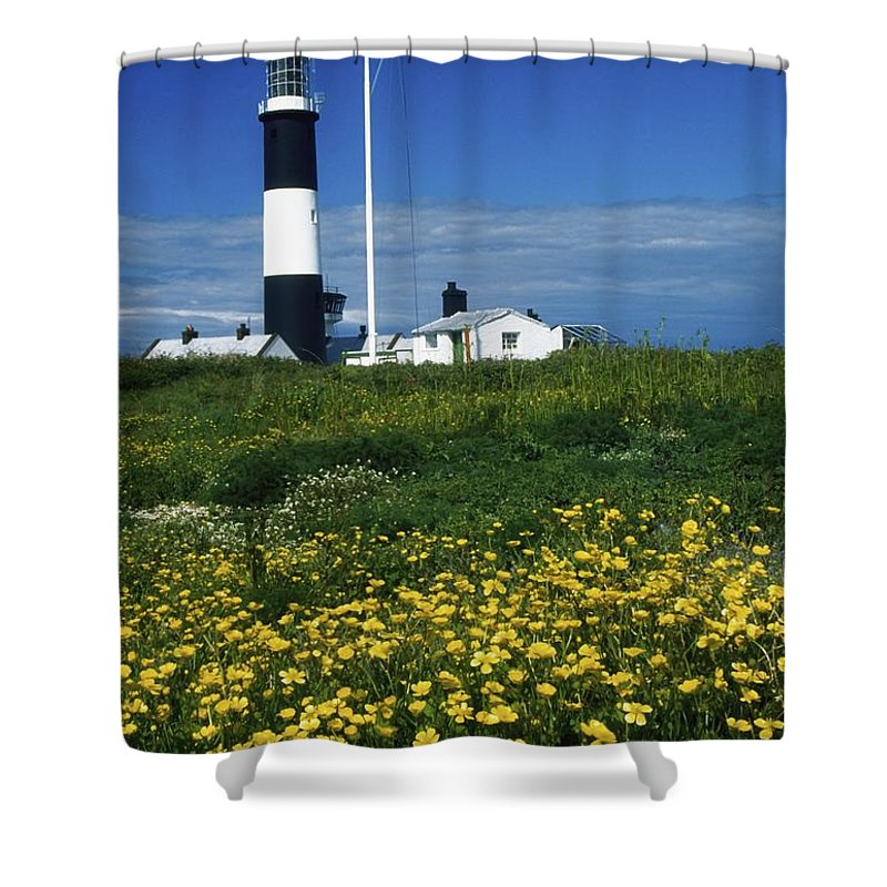 Architecture Shower Curtain featuring the photograph Mew Island, County Down, Ireland by Richard Cummins