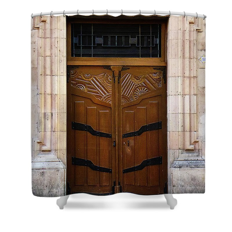 North America Shower Curtain featuring the photograph Mexican Door 33 by Xueling Zou