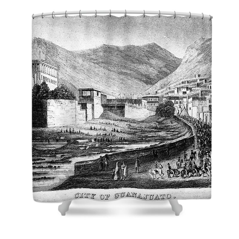 1844 Shower Curtain featuring the photograph Mexico: Guanajuato by Granger