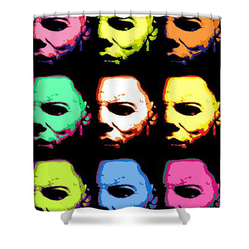 Michael Myers Shower Curtain Featuring The Digital Art Mask Pop By Paul Van
