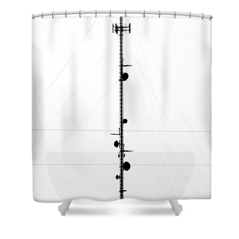Microwave Shower Curtain featuring the photograph Microwave Abstract by Marilyn Hunt