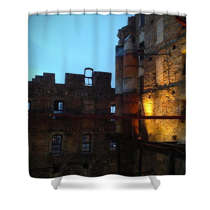 Mill Shower Curtain featuring the photograph Mill Ruins by Tim Nyberg