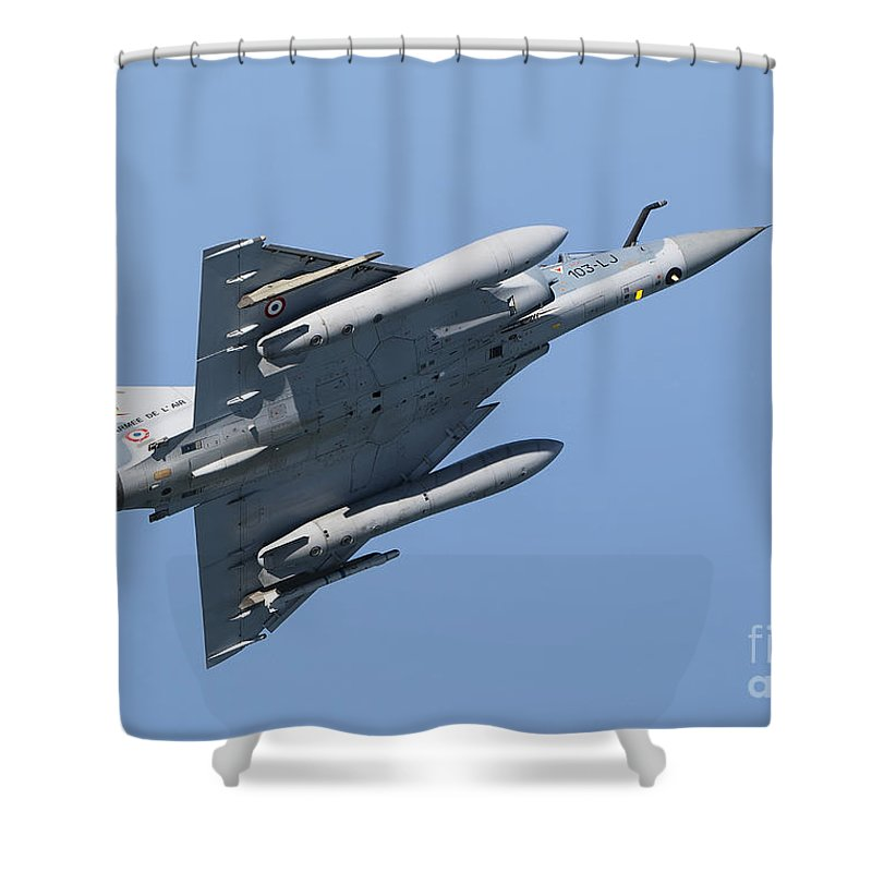 Transportation Shower Curtain featuring the photograph Mirage 2000c Of The French Air Force by Gert Kromhout