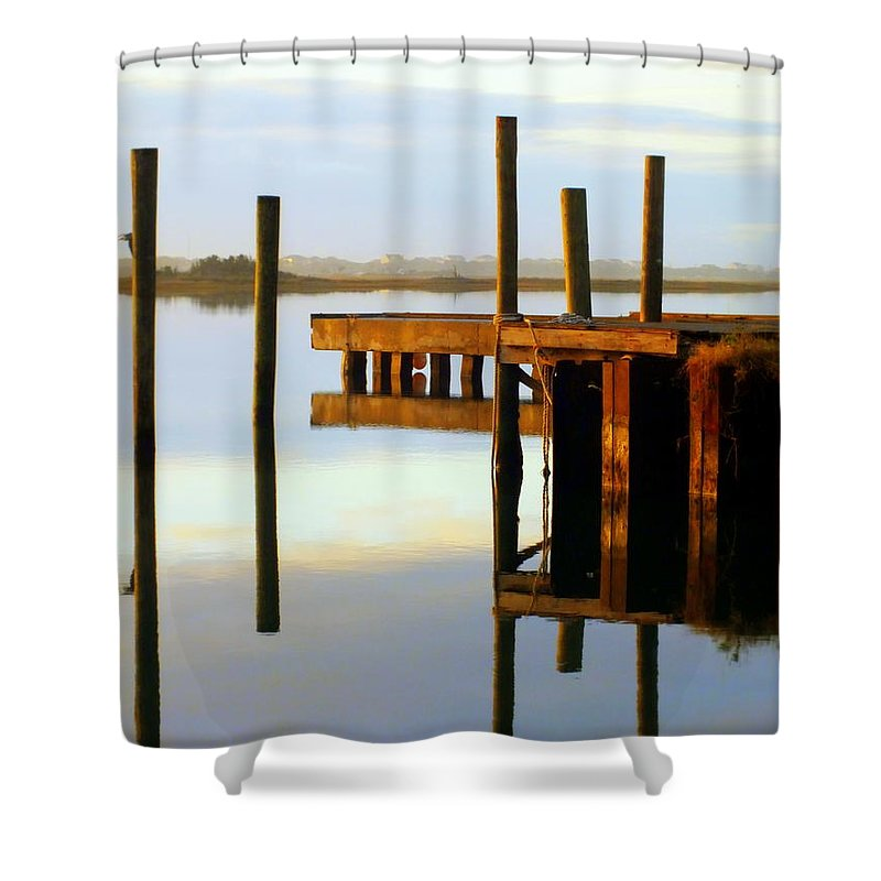 Nautical Shower Curtain featuring the photograph Mirror Image by Karen Wiles