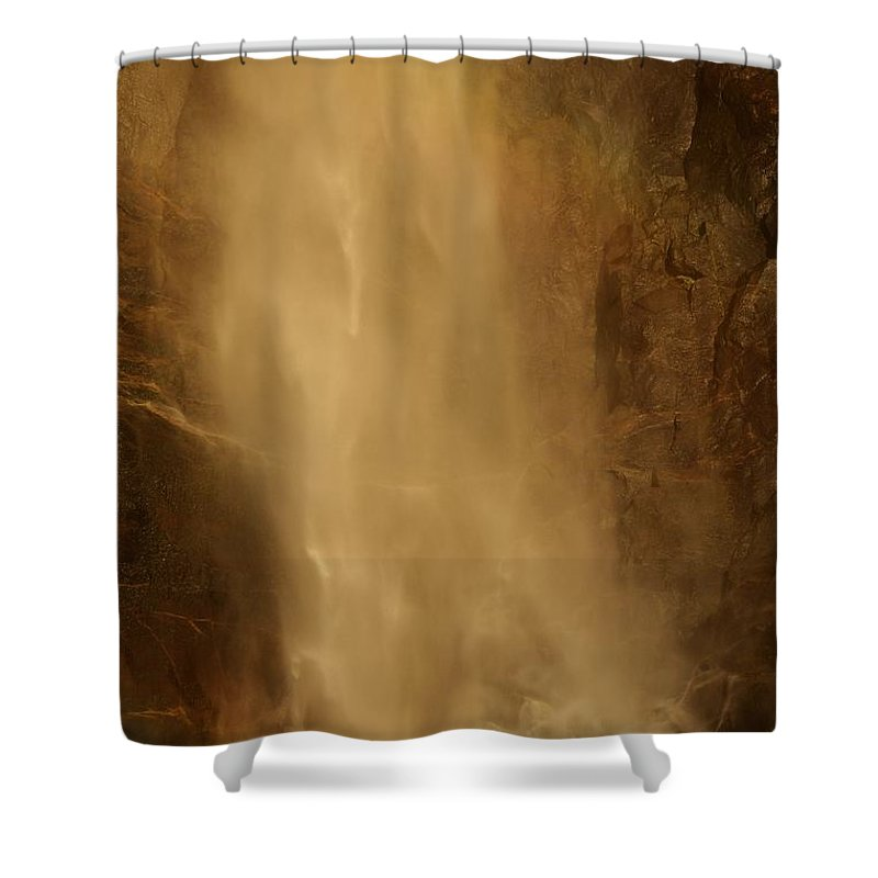 Yosemite National Park Shower Curtain featuring the photograph Mist by Adam Jewell