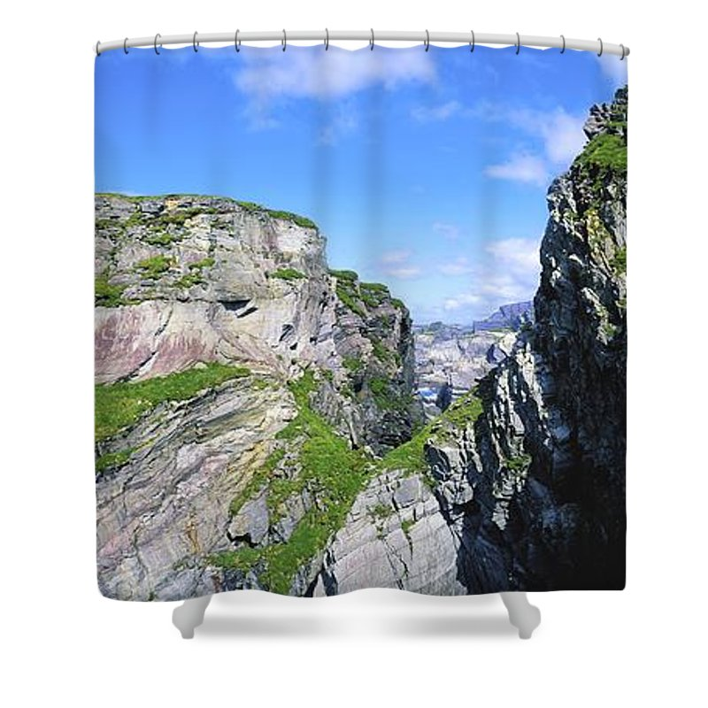 Co Cork Shower Curtain featuring the photograph Mizen Head, Ivagha Peninsula, Co Cork by The Irish Image Collection