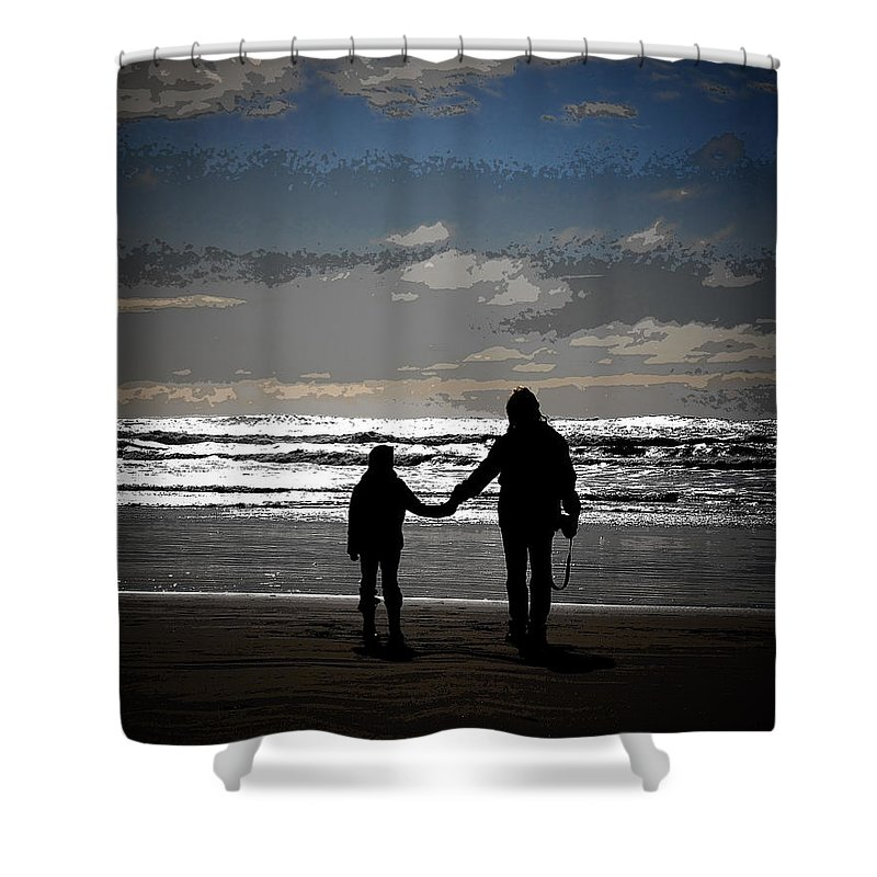 Beach Shower Curtain featuring the photograph Moments Like This by Steve McKinzie