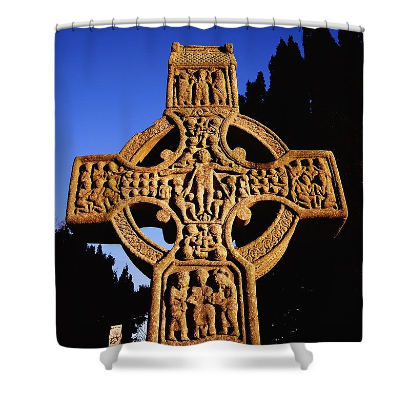 Celtic Shower Curtain featuring the photograph Monasterboice, Co. Louth by The Irish Image Collection