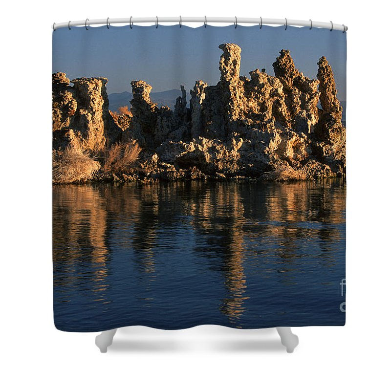 Sandra Bronstein Shower Curtain featuring the photograph Mono Lake Tufa by Sandra Bronstein