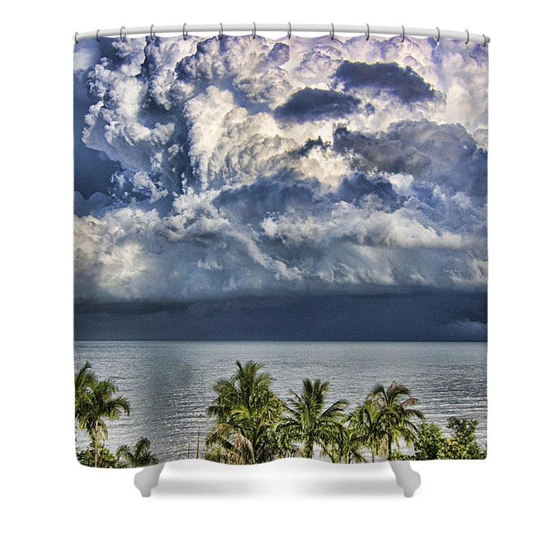 Monsoon Rain Cloud Shower Curtain featuring the photograph Monsoon Rain Cloud by Douglas Barnard
