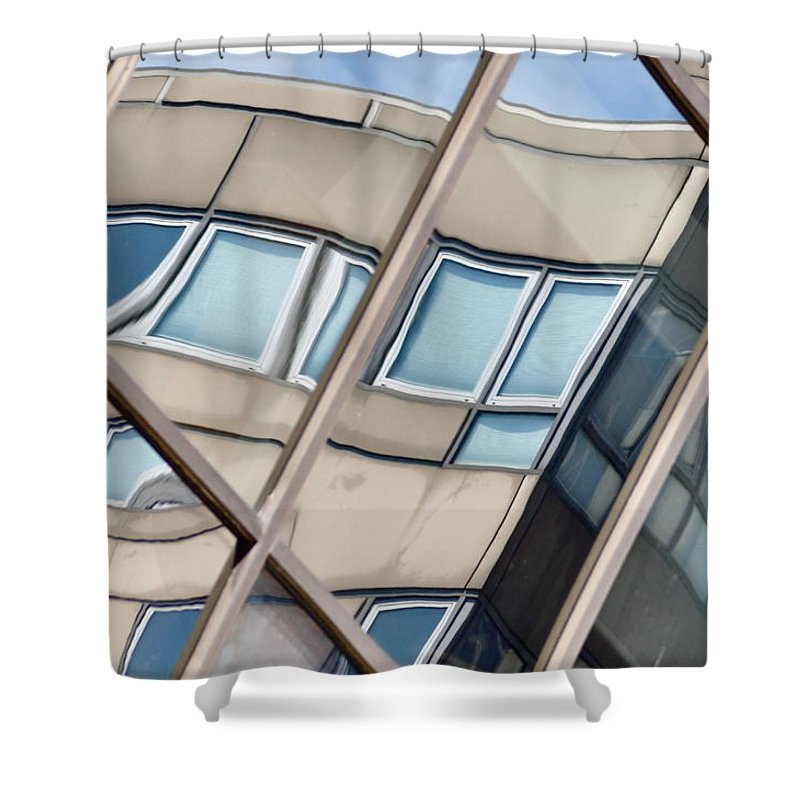 Montreal Shower Curtain featuring the photograph Montreal Reflections Viii by Valerie Rosen