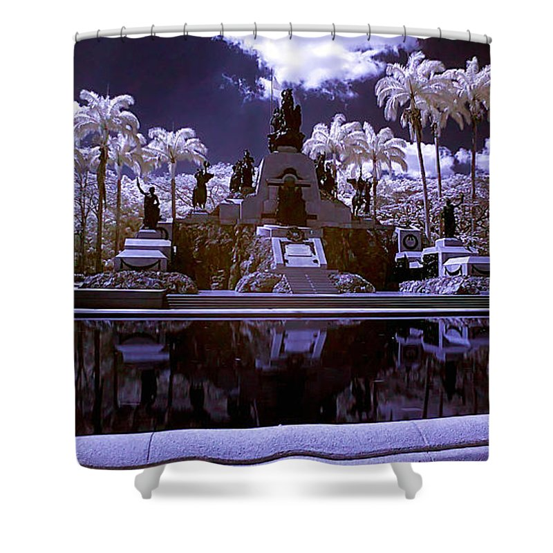 Monument Shower Curtain featuring the photograph Monument To The Battle Of Carabobo by Galeria Trompiz