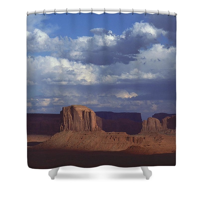 Monument Valley Shower Curtain featuring the photograph Monument Valley 3 by Mark Greenberg