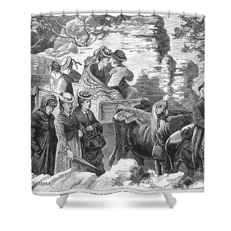 1875 Shower Curtain featuring the photograph Mormon Wives, 1875 by Granger