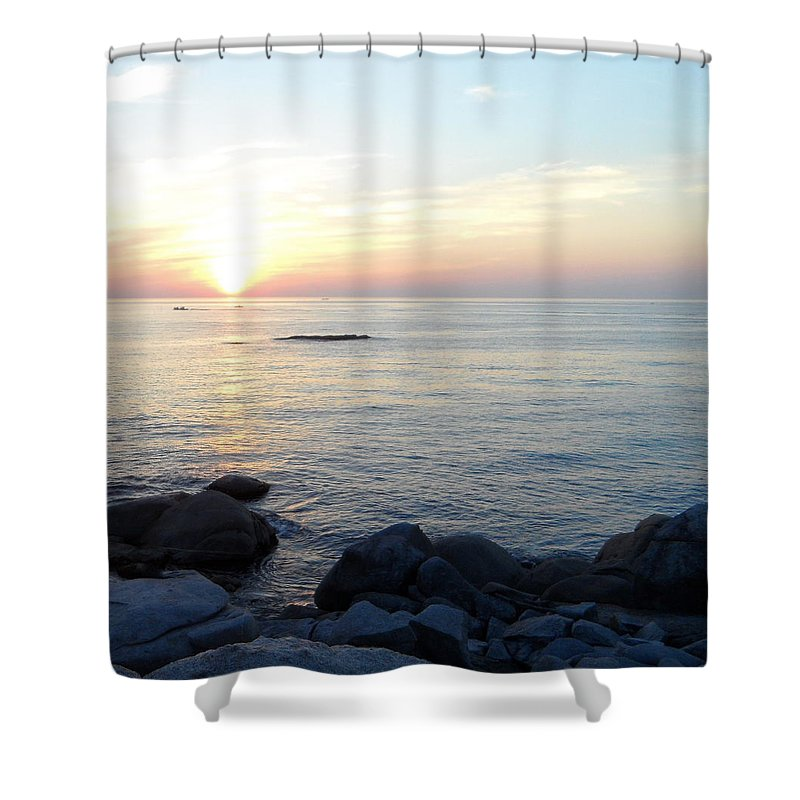 Gyongpo Shower Curtain featuring the photograph Morning Calm by Kume Bryant