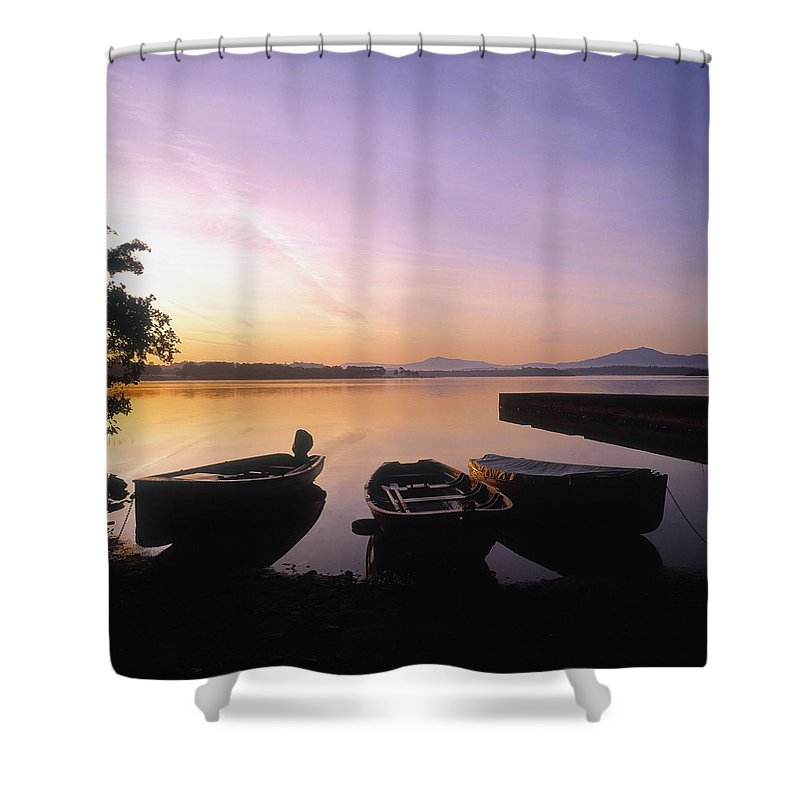 Atmosphere Shower Curtain featuring the photograph Morning Over Lough Leane, Killarney, Co by The Irish Image Collection