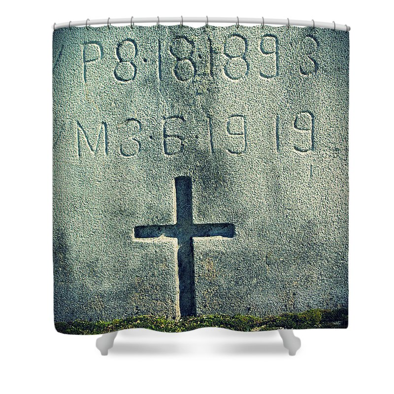 Moss Shower Curtain featuring the photograph Mossy Tomb by Michele Nelson