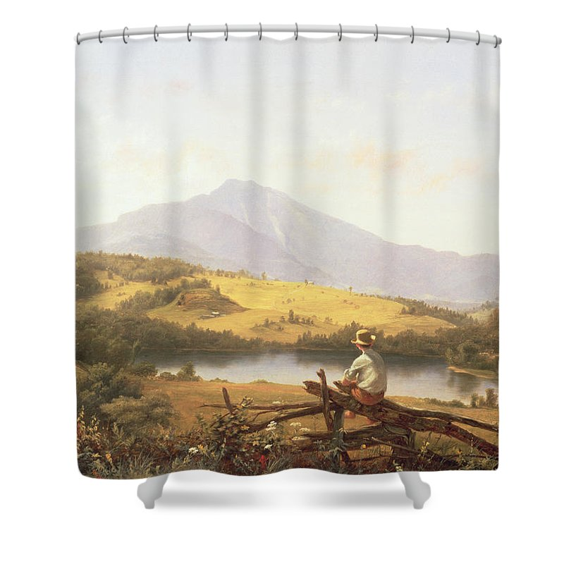 Mount Mansfield Shower Curtain featuring the painting Mount Mansfield by Jerome Thompson